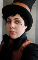 Reaver Cosplay Make Up+ Hairsyle test run with hat by Layen
