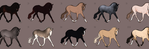 Ballovali Adoptables - All Claimed o.o by Ehetere