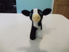 Needle felted baby cow, calf by imaginaryfriends2012