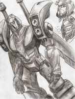 Blitzwing Sketch by Ultra-Raptor