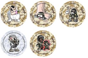 CoD: MW 2 Chibi Badges by RedPawDesigns