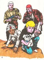 Jonny Quest and Co. by zombiegoon
