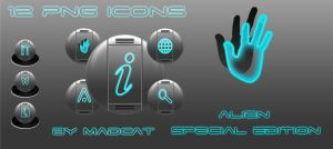Alien se glow png icons by coolcat21
