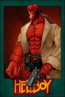 Hellboy by panelgutter