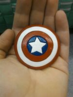 Captain America Shield Magnet by Sara121089