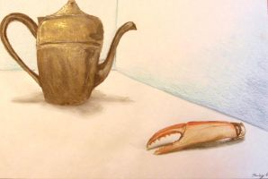 Teapot and Crab Claw by JessCurious