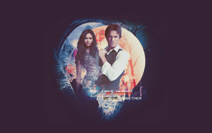 Damon and Elena wallpaper by avadaxkedavra