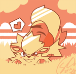 Arcanine in the Grass by SteveKdA