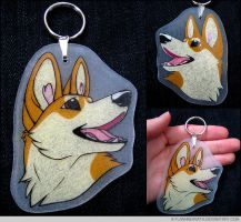 Corgi Keychain by FlannMoriath