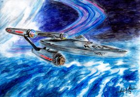 Starship Enterprise by the-ChooK