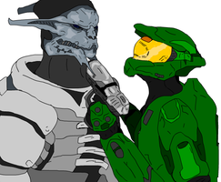 Chief VS Saren Remake WIP by Methados