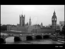 The Big Ben and the Parliament by Luthien-Lossehelin