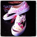 Hello Kitty Vans Black by VeryBadThing
