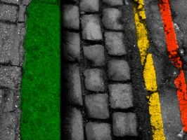 Rasta pavement by VicDeS-P