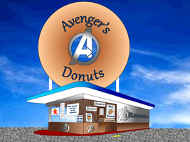 Avenger's Donuts by BlindAcolyte