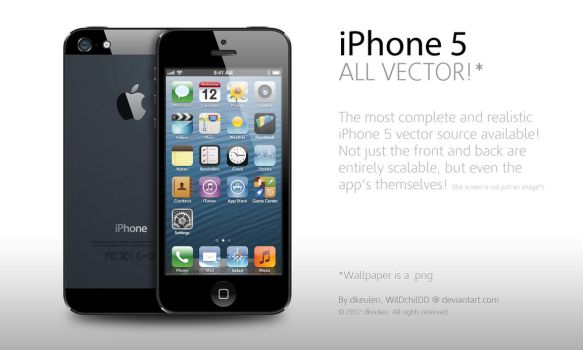iPhone 5 entirely Vector by WilDchilDD