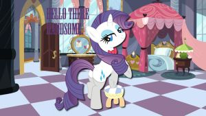 Wallpaper Rarity Hello there by Barrfind