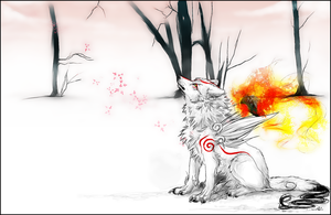 Amaterasu.:WinterMoments:. by WhiteSpiritWolf