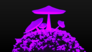 Purple mushrooms - Spirit day by betasector