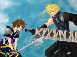 Cloud and Sora for NiTe16 by pen-gwyn