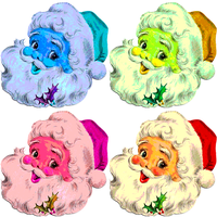 Warhol Vintage Santas by Richard67915