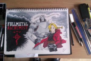 Full Metal Alchemist - Ed and Al by MrUnsensible666