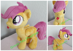 Silly Scootaloo Plush by GreenTeaCreations