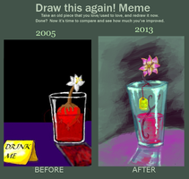 Draw This Again: Drink Me by UltraLiThematic