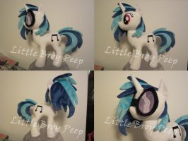 my little pony vinyl scratch Djpon3 plush for sale by Little-Broy-Peep