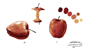 I PAINTED AN APPLE by Skwareblox