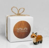 Fox Animal Figurine by RamalamaCreatures