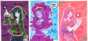 ACEO -Princesses from Oooh - by AsuHan