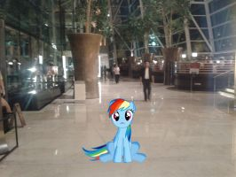 Rainbow Dash at Marina Bay Sands by laopokia