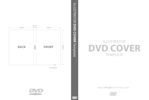 DVD Cover Template for Illustrator by dragit