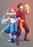 Commission: Sarah and Kano by SolKorra