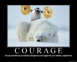 Courage Poster by Drander