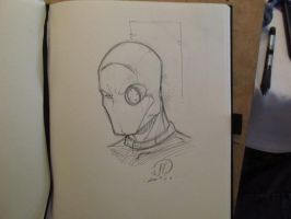 Dead Shot Head sketch by JoeyVazquez