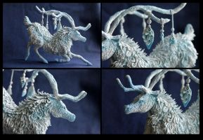 White Reindeer II detail by hontor