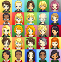 The Hunger Games Characters by DiFab0220