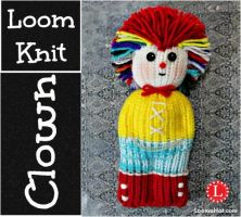Loom Knit Clown Doll - Wholly by LoomaHat