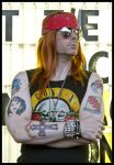 Axl Rose Temporary Tattoos by BamaGent