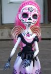 Day of the Dead Monster high Custom Cupid by AdeCiroDesigns