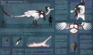 Skaia - reference sheet V.2 by Ouiatchouan