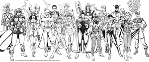 My old superhero characters by Bispro