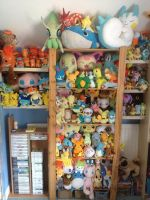Part Of My Pokemon Plush Collection August 2014 by MizukiiMoon