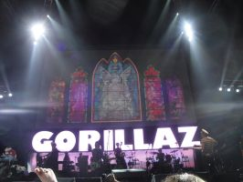 Gorillaz at the O2: 2 by Psycho7772
