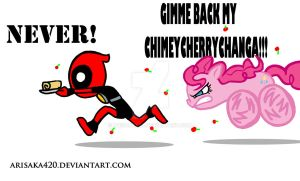 Deadpool meets Pinkie Pie by arisaka420