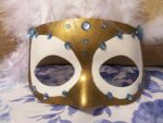 Gold, White and Feathers Mask2 by silverelf448