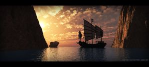 Cove of the South Sea Pirates by SATTISH