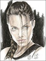 Angelina Jolie as Lara Croft by Art15